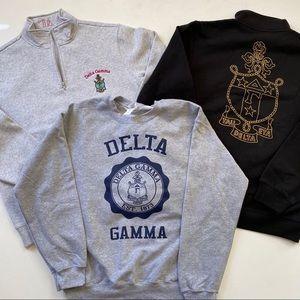 3 Delta Gamma Sorority Swestshirts Sz Medium